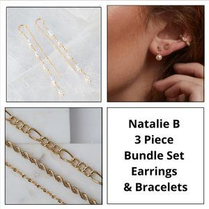 Natalie B - 3 Piece Bundle Set Earring & Bracelets